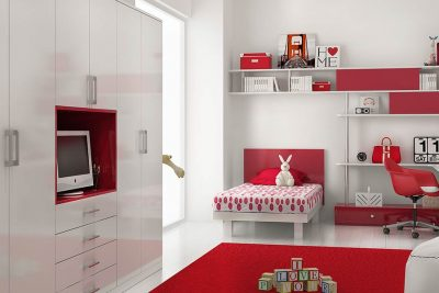Romantic and Vital Style Bedroom for 10 Years' Old Girl